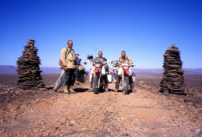 The twin cairns on the Tarat piste just past Imirhou soak. The dvd cover