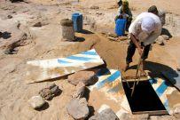 Remains of a Saviem balise lining a well near Chirfa