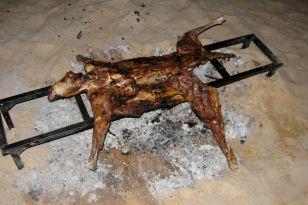 Roast goat