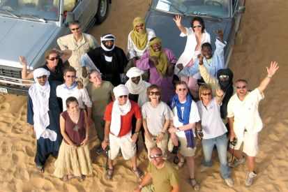 The gang shot from the Tenere tree 'lighthouse'