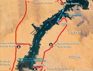 Egypt-Sudan-Lake-Nasser-border-map