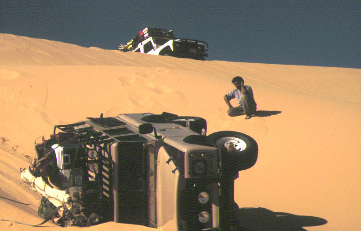 Extreme sucking in desert