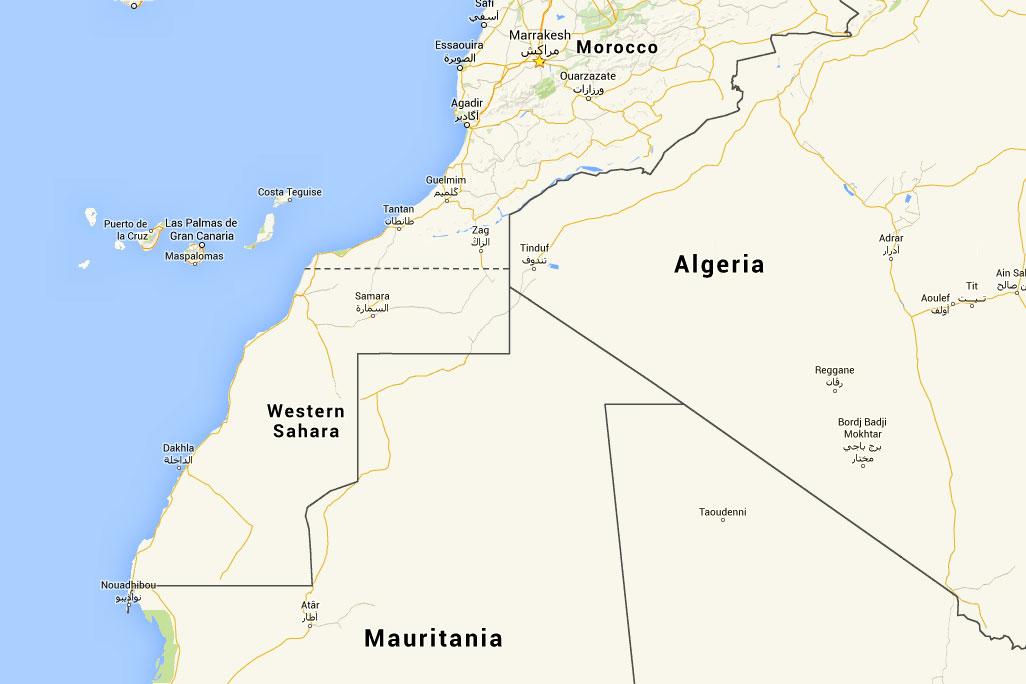WESTERN SAHARA Sahara Overland - Western sahara map