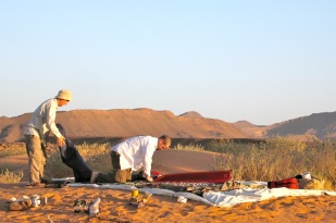 Scorpion camp at Tig guelta