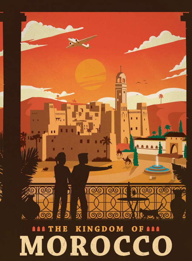 vintage north african posters