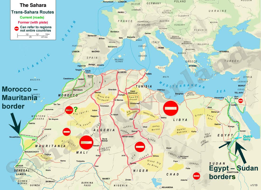 Trans Sahara Routes   Sahara Overland on kalahari desert on a map, atlas mountains map, great rift valley on a map, nubian desert on a map, climate on a map, siberia on a map, suez canal on a map, sinai peninsula on a map, gobi desert on map, namib desert on a map, sahel on a map, great sandy desert on a map, sonoran desert on a map, amazon rainforest on a map, alps on a map, nile river on a map, libyan desert on a map, atacama desert on a map, arabian desert on a map, thar desert on a map,
